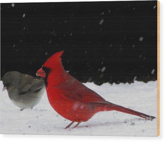 Snow Birds Wood Print