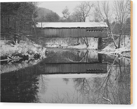 Snow Covered Coombs Wood Print