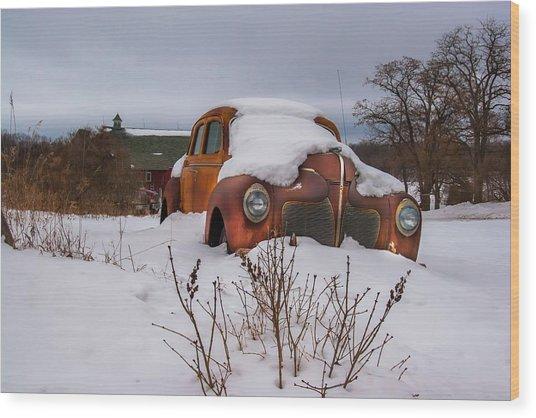 Snow Covered De Soto Wood Print