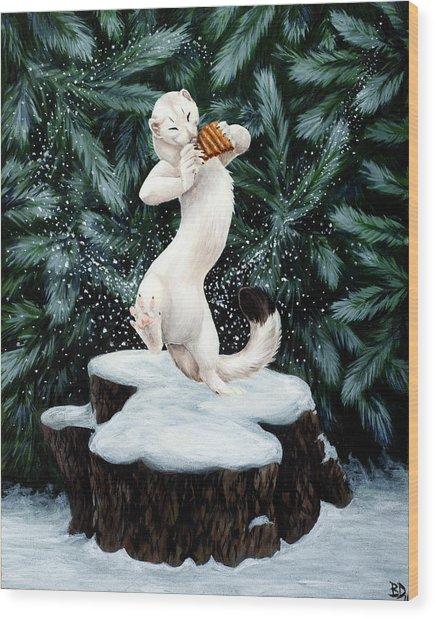 Snow Dance Wood Print