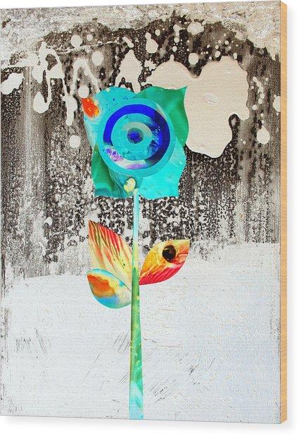 Snow Flower Wood Print