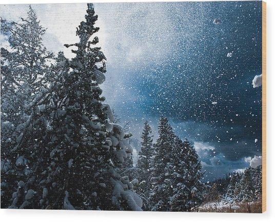 Snow Flurry Wood Print