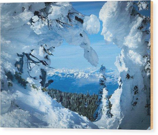 Snow Heart Wood Print