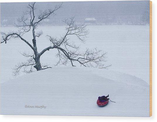 Snow Hill Ride Wood Print