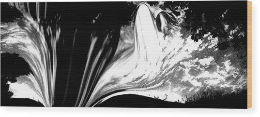 Snow Wood Print by HollyWood Creation By linda zanini