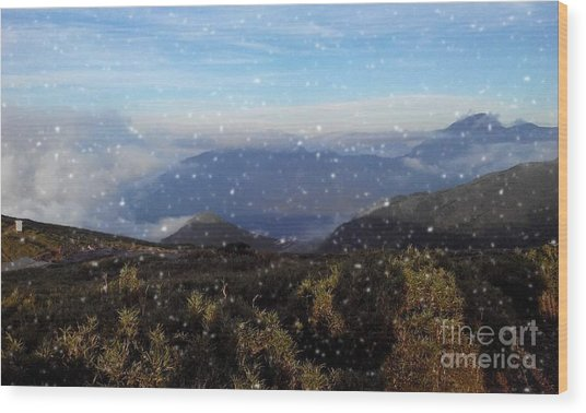 Snow  Mountain Wood Print