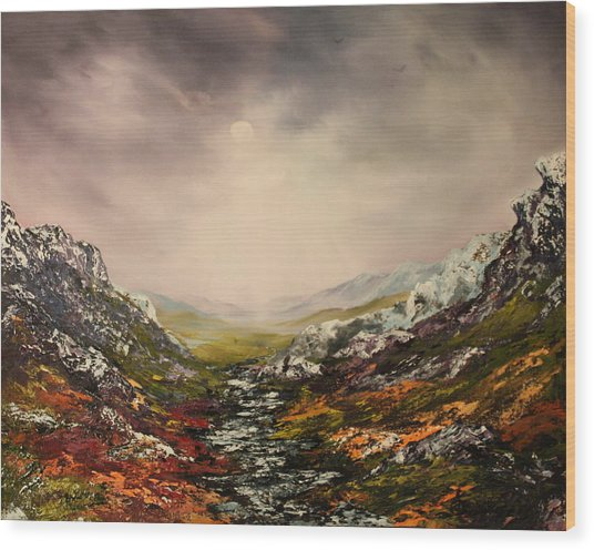 Snow On The Cairngorms Wood Print