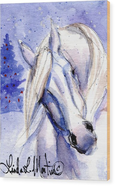 Snow Pony 1 Wood Print