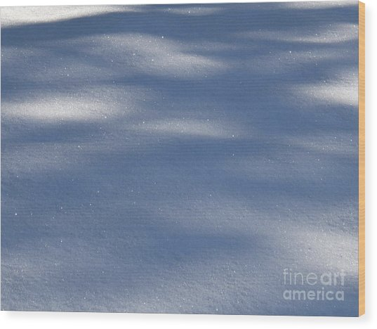 Snow Shadows Wood Print