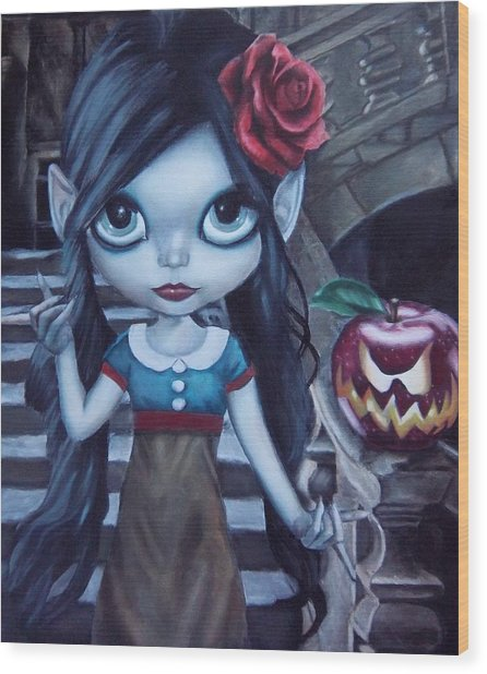 Snow White Wood Print by Lori Keilwitz