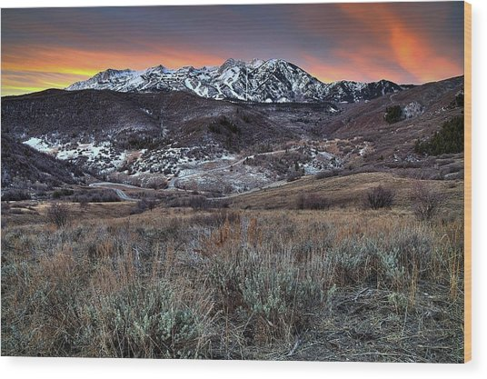 Snowbasin Fire And Ice Wood Print