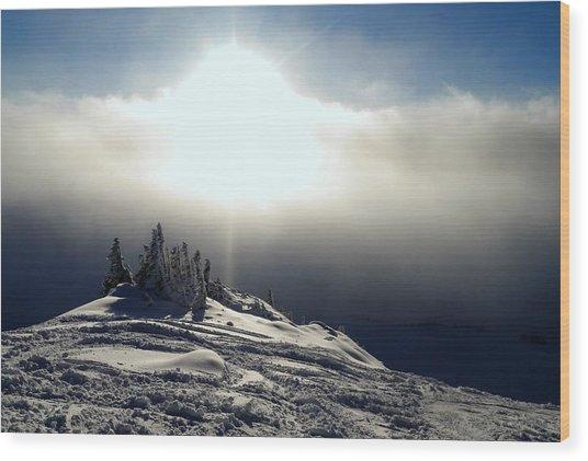 Snowcloud Sunburst Wood Print
