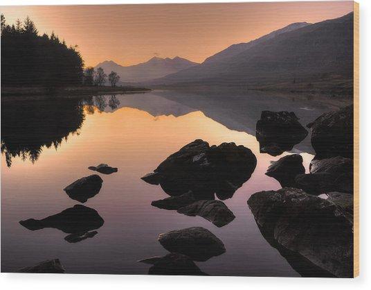 Snowdon At Dusk Wood Print