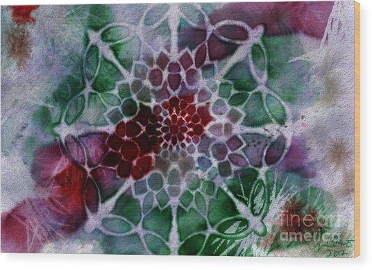Snowflake 1 Wood Print