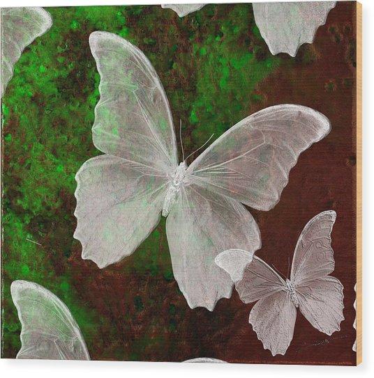 Snowflies Wood Print