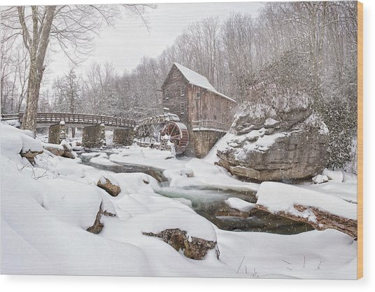 Snowglade Creek Grist Mill 1 Wood Print