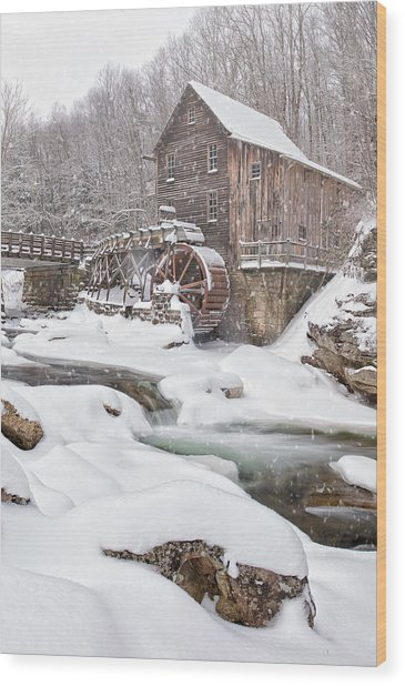 Snowglade Creek Grist Mill Wood Print