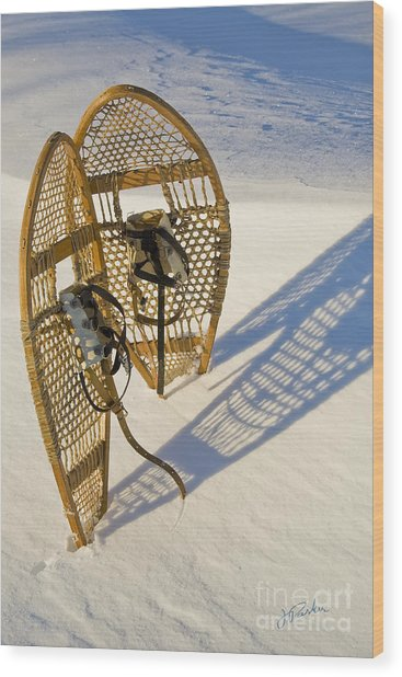 Snowshoes II Wood Print