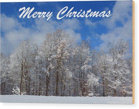 Snowy Christmas Wood Print