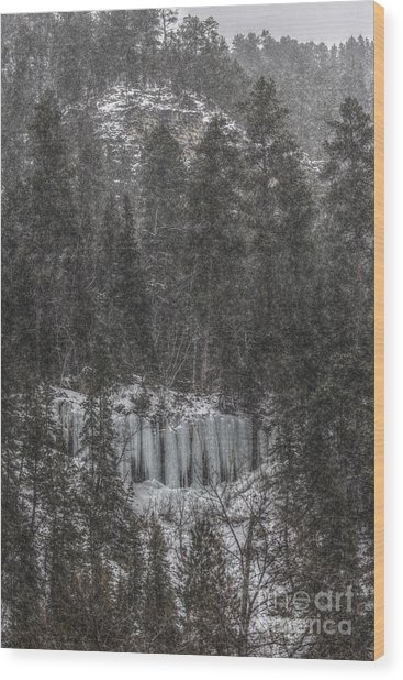 The Snowy Cliffs Of Spearfish Canyon South Dakota Wood Print