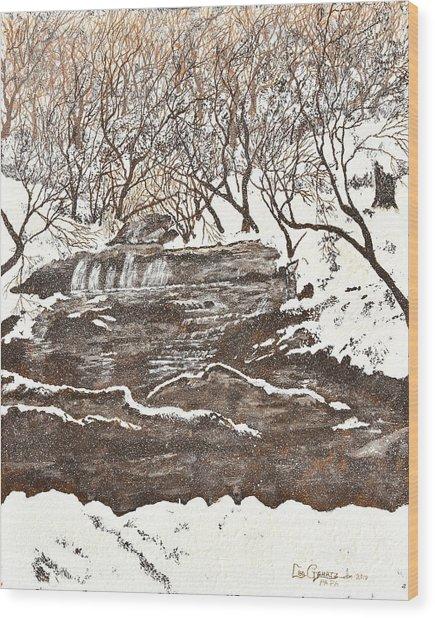 Snowy Creek Wood Print by Leo Gehrtz