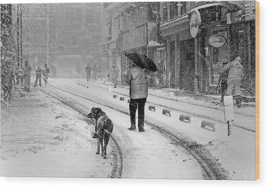 Snowy Day A?n A?stanbul Wood Print by Devrim ?nl?