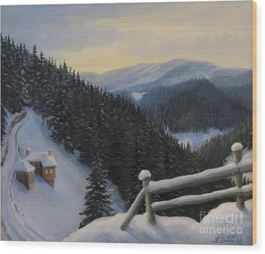 Snowy Fairytale Wood Print by Kiril Stanchev