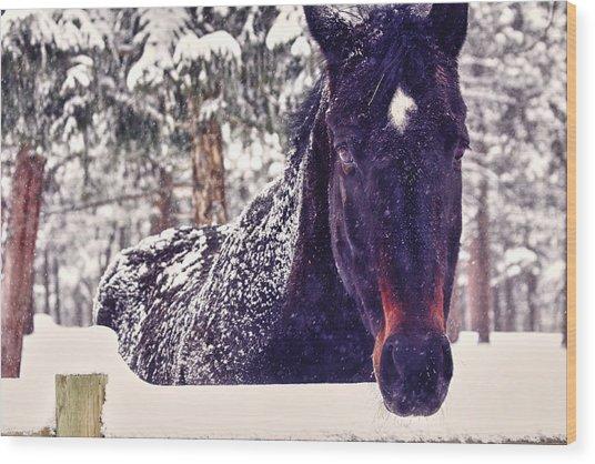 Snowy Spirit Wood Print