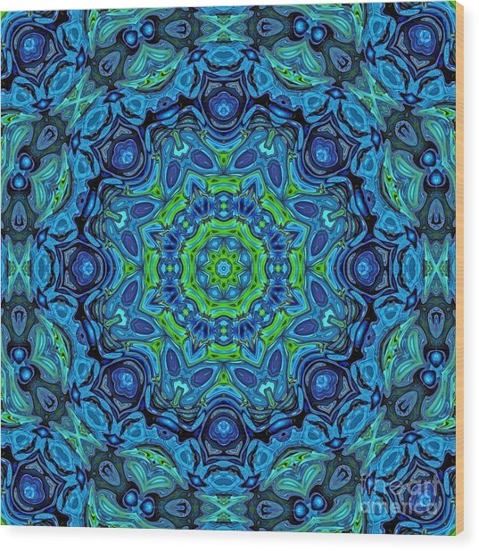 So Blue - 43 - Mandala Wood Print