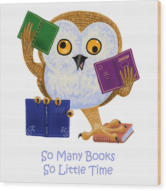 So Many Books So Little Time Wood Print