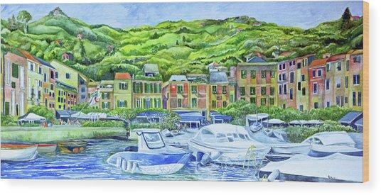 So This Is Portofino Wood Print