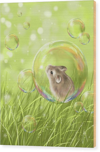 Soap Bubble Wood Print
