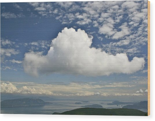 Soaring Cloud Wood Print