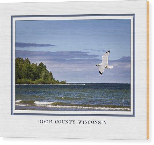 Soaring Over Door County Wood Print