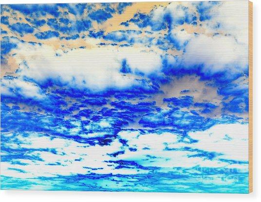 Soaring Sea Wood Print