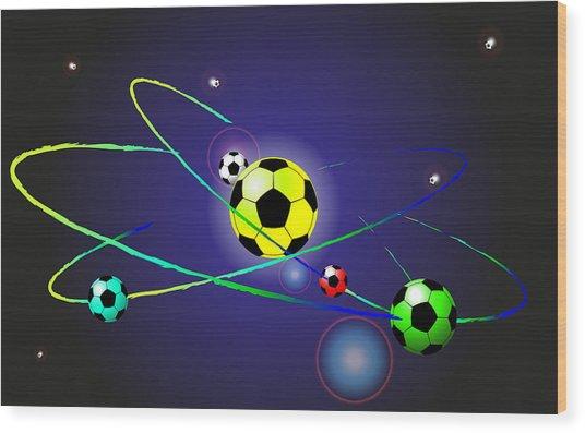 Soccer Ball Wood Print by Volodymyr Horbovyy