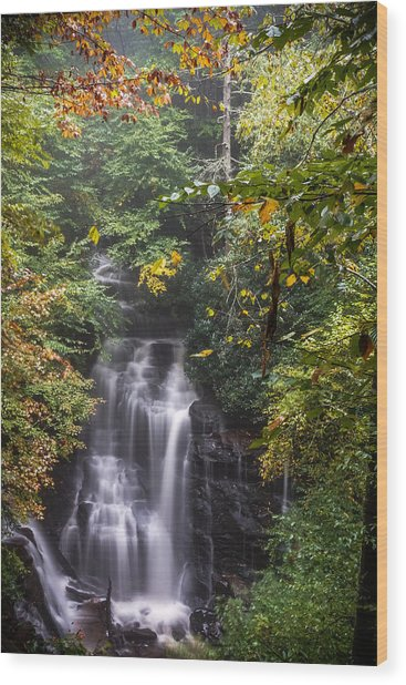 Wood Print featuring the photograph Soco Falls by Francis Trudeau