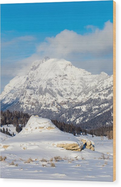 Soda Butte Wood Print