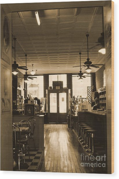Soda Fountain And General Store Wood Print