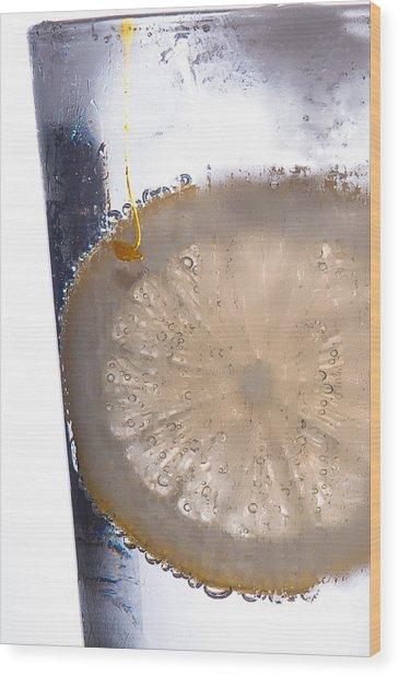 Soda With Lemon Wood Print by David Pinsent