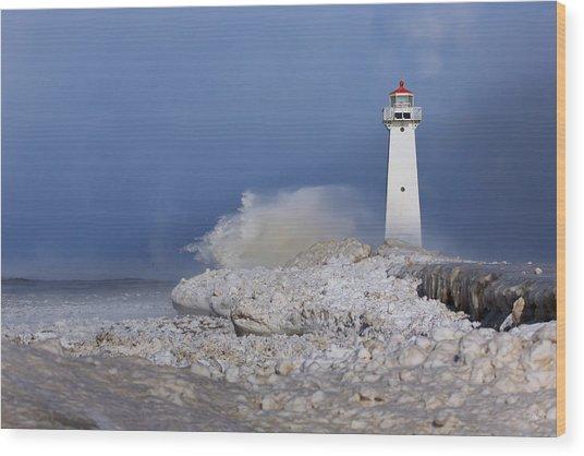 Sodus Bay Lighthouse Wood Print