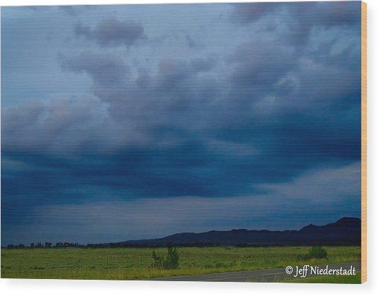 Soft Blue Sky Wood Print