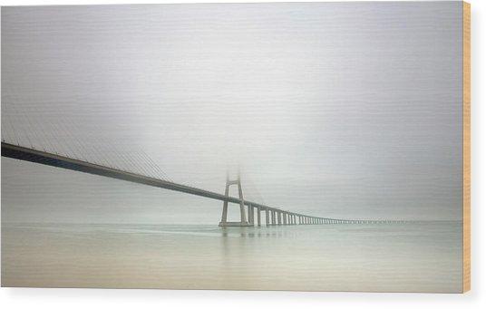 Soft Bridge Wood Print