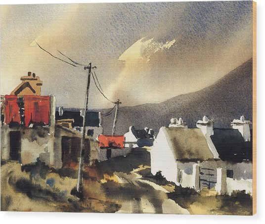 Soft Day In Achill Mayo Wood Print