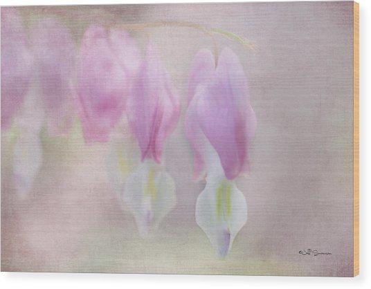 Soft Pink Heart Wood Print