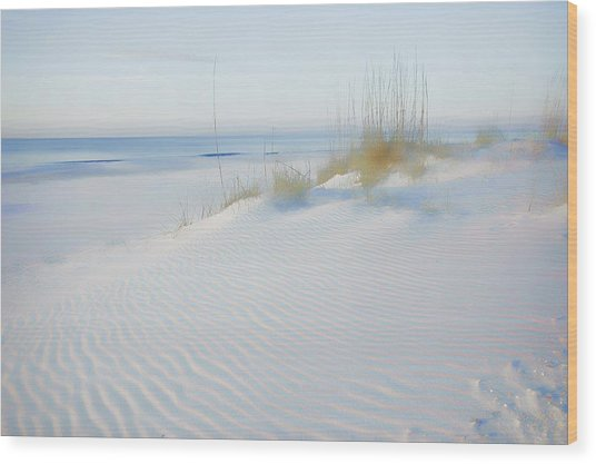 Soft Sandy Beach Wood Print