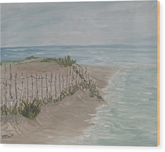 Soft Sea Wood Print