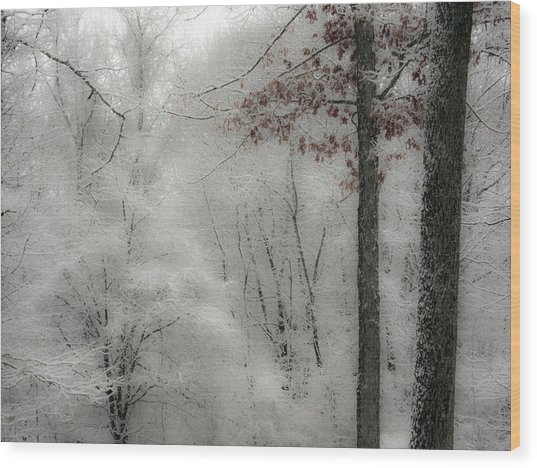 Soft Snow Wood Print