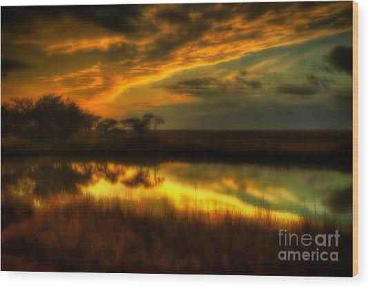 Soft Sunset Wood Print
