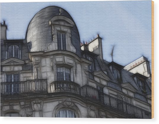 Softer Side Of Paris Architecture Wood Print